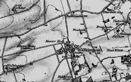 Old map of Walkington in 1898