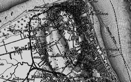 Old map of Wallasey in 1896