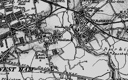 Old map of Wallend in 1896
