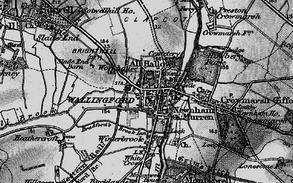 Old map of Wallingford in 1895