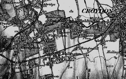 Old map of Wallington in 1895