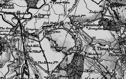 Old map of Worthenbury Brook in 1897