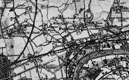 Old map of Wallsend in 1897