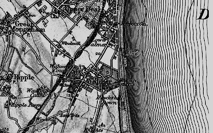Old map of Walmer in 1895
