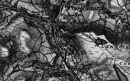 Old map of Walsden in 1896