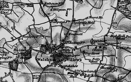 Old map of Walsham Le Willows in 1898