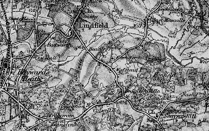 Old map of Awbrook in 1895