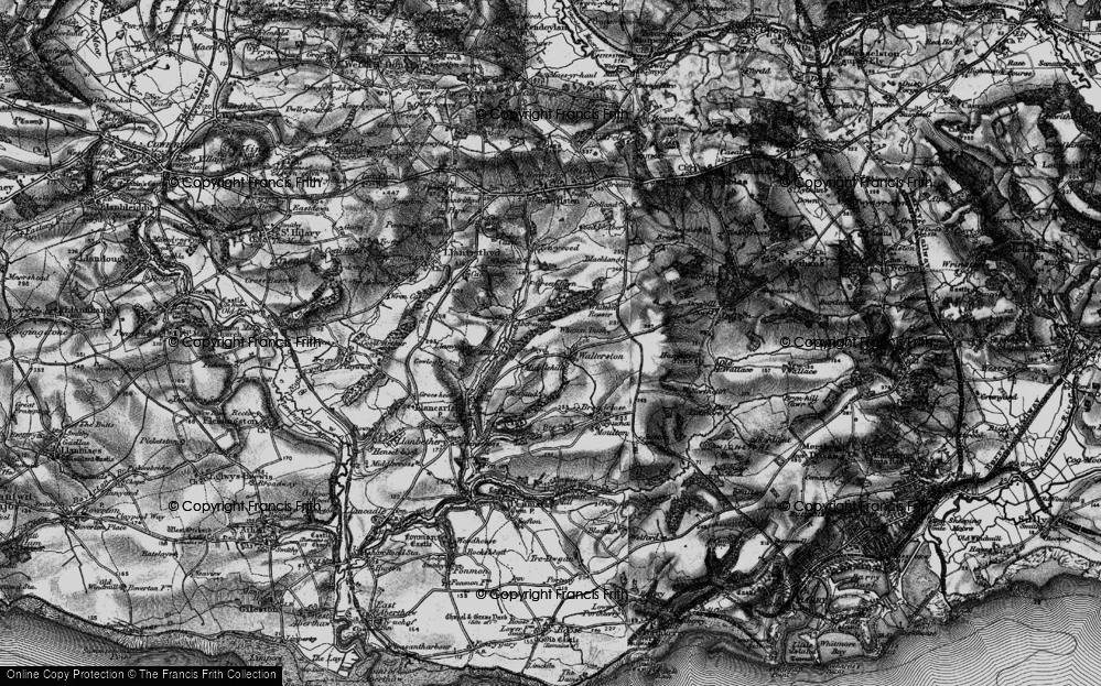 Old Map of Historic Map covering Whitewell in 1897