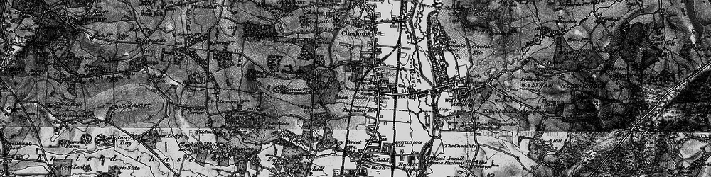 Old map of Waltham Cross in 1896