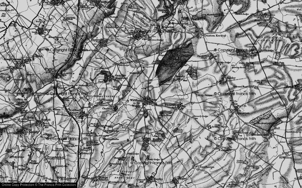 Old Map of Historic Map covering Lings Covert in 1899