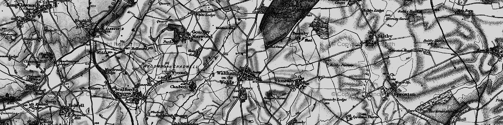Old map of Lings Covert in 1899