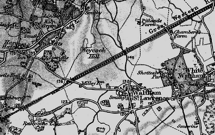 Old map of Waltham St Lawrence in 1895