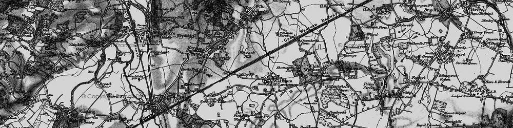 Old map of Weycock Hill in 1895