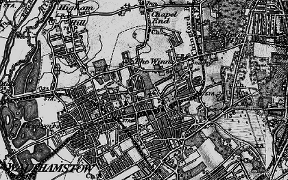 Old map of Walthamstow in 1896