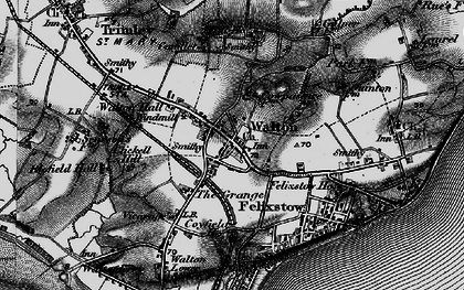 Old map of Walton in 1895