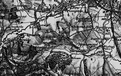 Old map of Widdowson Spring Wood in 1896