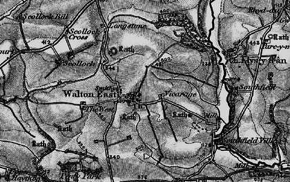 Old map of West, The in 1898
