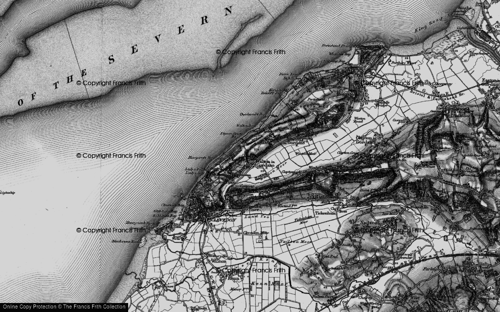 Old Map of Historic Map covering Walton Bay in 1898