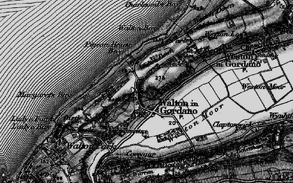 Old map of Walton in Gordano in 1898
