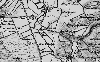 Old map of Westfield Ho in 1897