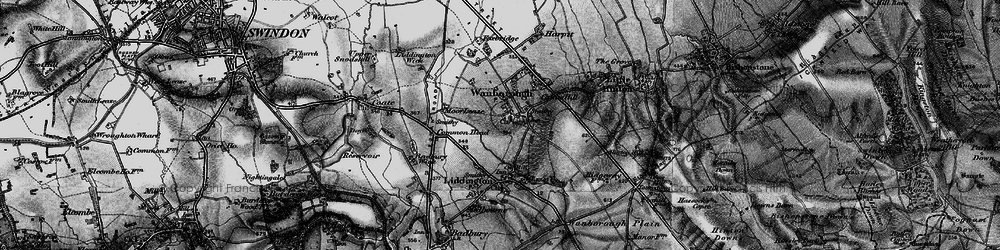 Old map of Wanborough in 1898