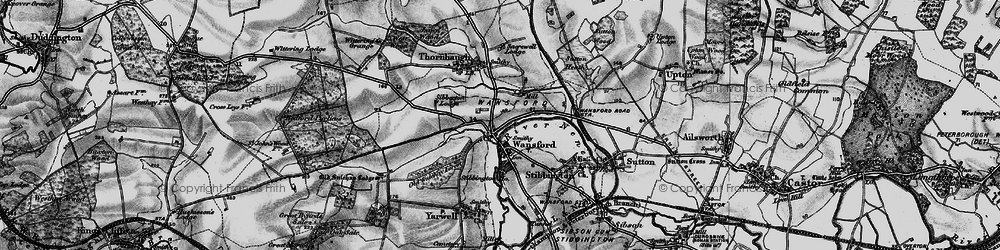 Old map of Wansford in 1898