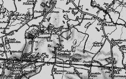 Old map of Lindridge in 1895