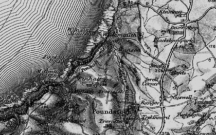 Old map of Wanson in 1896
