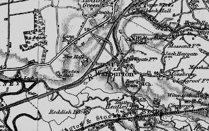 Old map of Warburton in 1896