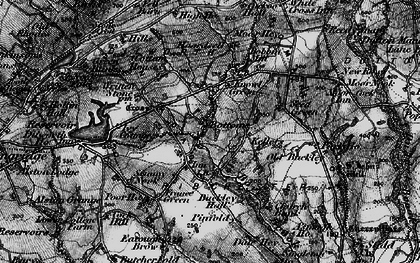 Old map of Written Stone in 1896