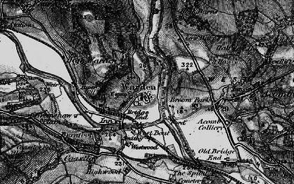 Old map of Westwood in 1897