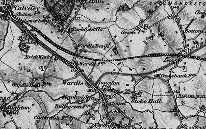 Old map of Barbridge Junction in 1897