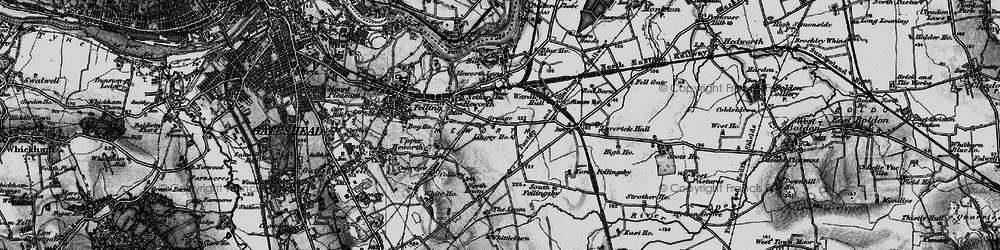 Old map of Leam Lane in 1898