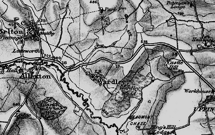 Old map of Allexton Wood in 1899