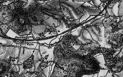 Old map of Wardour Castle in 1895