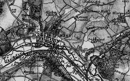 Old map of Ware in 1896