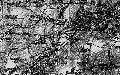 Old map of Wareside in 1896