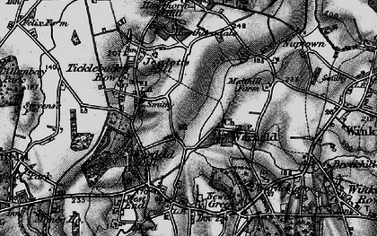 Old map of Warfield in 1895