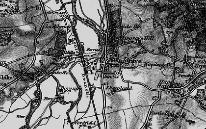Old map of Wargrave in 1895
