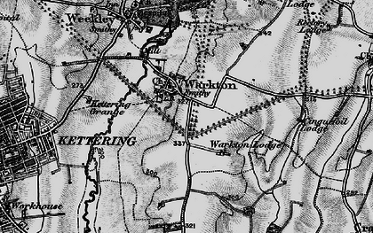 Old map of Warkton in 1898
