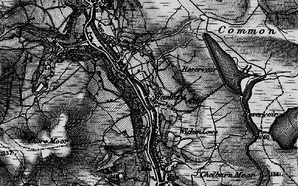 Old map of White Holme Resr in 1896
