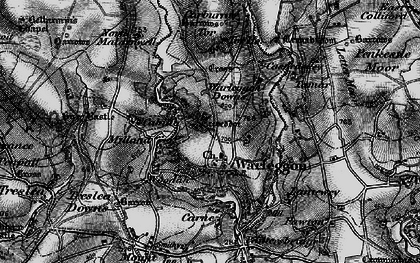 Old map of Warleggan in 1895