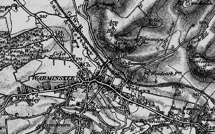 Old map of Warminster in 1898