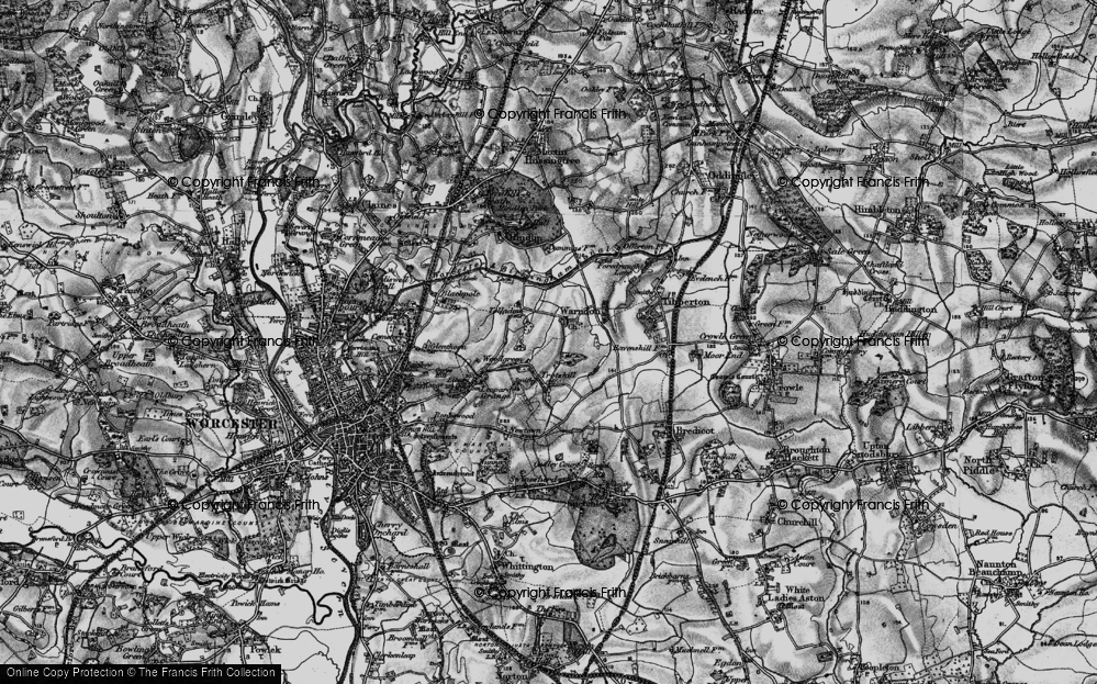 Old Map of Historic Map covering Woodgreen in 1898