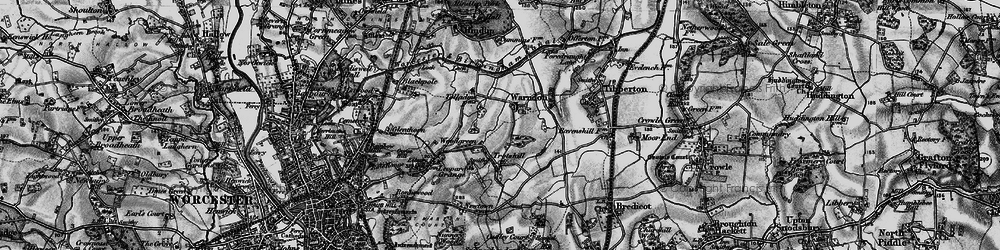 Old map of Woodgreen in 1898
