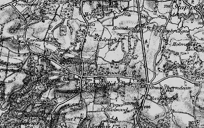 Old map of Warninglid in 1895