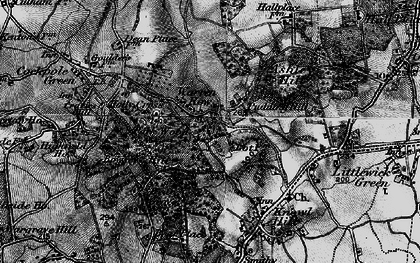 Old map of Ashley Hill Forest in 1895