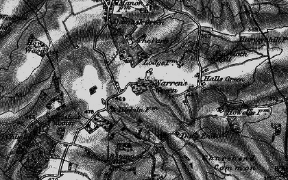 Old map of Weston Park in 1896