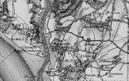 Old map of Warsash in 1895