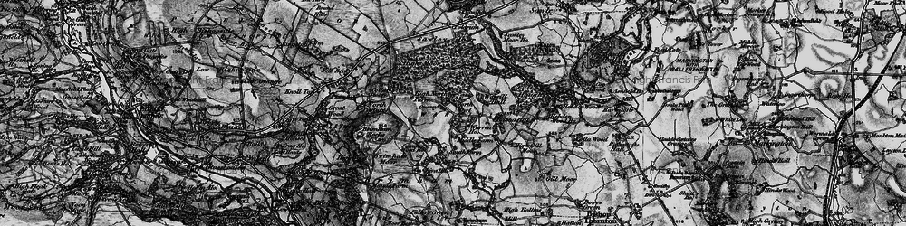 Old map of Brimham Rocks in 1898